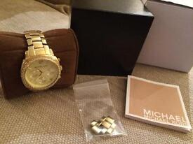 MICHAEL KORS GOLD WATCH FOR SALE!!
