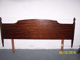 Stag Double mahogany headboard,