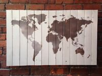 Map of the World 109 x 67cm - Real Wood