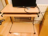 Computer desk , great condition, it has slide out keyboard shelf, only phone calls pls.