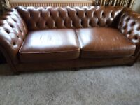 Chesterfield Leather Sofa & Chair