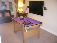 BCE RILEY 5FT FOLDING LAY FLAT POOL TABLE WITH WHEELS (STUNNING) THE BEST
