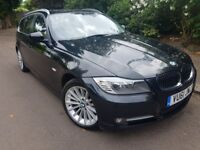 2011 BMW 318D EXCLUSIVE TOURING 6 SPEED MANUAL FULL LEATHER INTERIOR 2 FORMER KEEPER SERVICE HISTORY