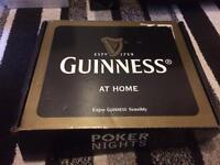Rare guinness poker set