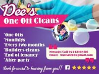 DeesOneOffCleans supplies a One Off whole house top to bottom clean within your home.