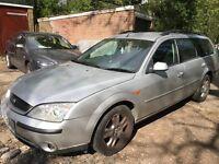 Ford Mondeo Ghia X TDDI 1998cc Turbo Diesel 5 speed manual 5 door estate 52 Plate 06/11/2002 Silver