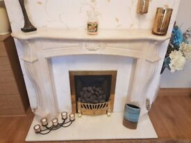 Fireplace suite with hearth