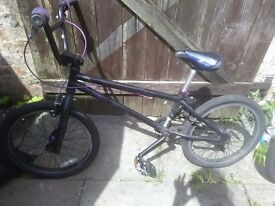 BLACK & PURPLE BMX BIKE
