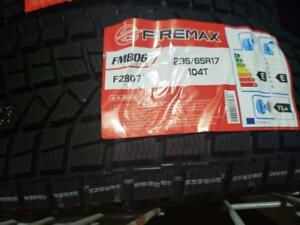 4 winter tires firemax   235/65r17   new