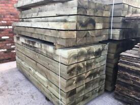 🚀New Tanalised Wooden Railway Sleepers
