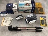 Sony DCR-SR90E 30GB Camcorder with Sony Sports SPK-HCD and Slik U5500 Tripod