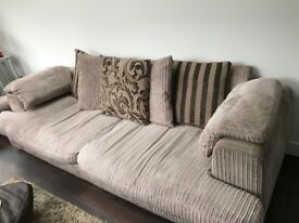 Large 3 seater and 2 seater sofas