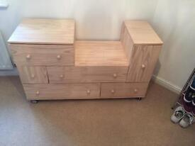 Drawer and cupboard unit