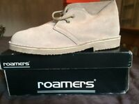 Brand new (in box) Mens Desert Boots (real suede - size 10)