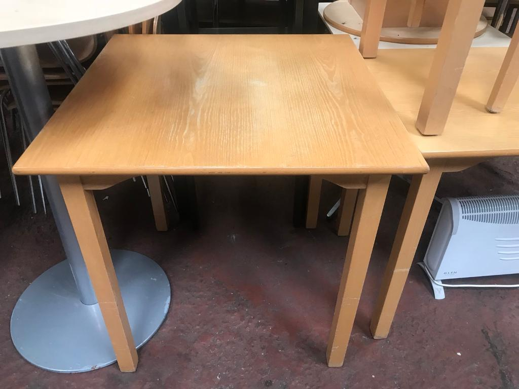1000mm Square Wooden Table Reduced