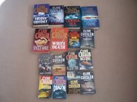 Collection of 16 Clive Cussler books for sale