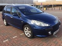 Peugeot 307 SW S, 1997cc Petrol, Automatic, 7 Seater Estate, 58 Plate, 37k, Panoramic sun roof