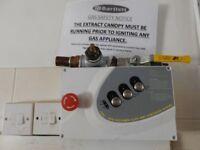 Catering Kitchen Gas interlock shut off sytem