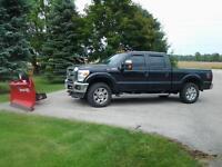 2011 Ford F-250 XLT Pickup Truck + new boss snow plow .