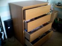 bedroom four draw chest 100x80x48