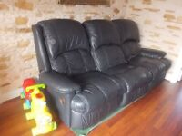 Sofa 3 Real Leather Excellent condition