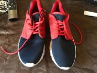 Cedarwood men's trainers navy red size 9/43 used £5