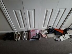 Selection of ladies shoes and bags size 5/6