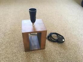 B&Q Boston Solid Wood Table Lamp