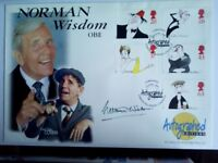 1998- comedians -FDC -Norman Wisdom - in person signed