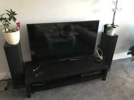 Black TV unit bench