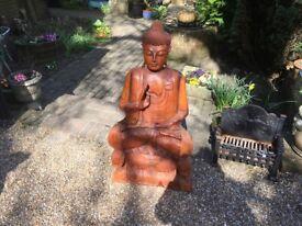 Solid Hardwood Buddha