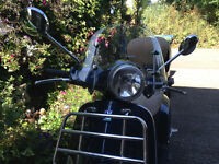 Blue Vespa 125LX, Vespa Windshield and Front Rack and LOTS of EXTRAS