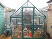 Greenhouse Metal Frame unbreakable Poly carbonate Glass