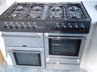 Belling Countrychef 8 burner gas hob with electric fan and conventional ovens