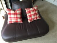 Lovely Brown leather sofa seat chair Amazing condition