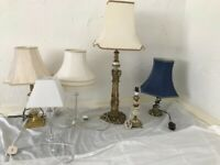 Selection of Lamps and shades