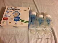 Dr Brown anti colic milk bottles