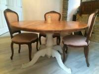 Wooden 6-seater round table