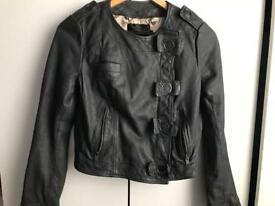 NEW French connection leather jacket