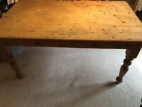 Solid wood dining table with drawers