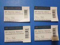 Great deal!! Leeds Castle tickets 2 adult + 2 senior citizen valid till December 2017