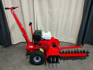 HOC DT70 - HONDA TRENCHER + 13 HP + 25 INCH DEEP + 27 TUNGSTEN CARBIDE BLADES + 3 YEAR WARRANTY + FREE SHIPPING