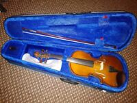 Violin. Case. Digital tuner. Chin rest Can deliver for petrol in Liverpool, Warrington and close by.