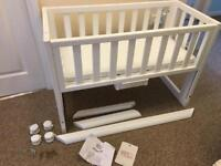 Troll bedside crib white VGC for co-sleeping