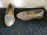 Brand new silver shoes, size 4