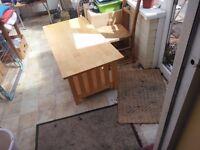LONG COFFEE TABLE - rubberwood