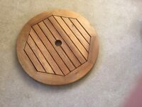wooden lazy Susan for garden table