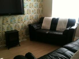 2 seater and 3 seater high quality leather sofas