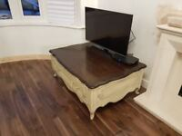 Shabby chic, French Louie style coffee table