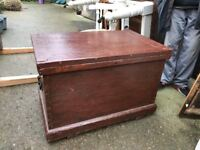 Victorian Ship Carpenters Tool Chest/Box - with interior drawers